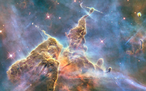 Mystic Mountain in the Carina Nebula from Hubble.
